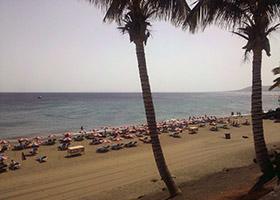 The beach in Puerto del Carmen, Lanzarote