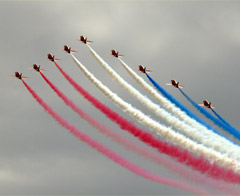 The Red Arrows at an air show