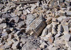 Building debris and rubble
