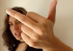 Annoying things, rude gesture