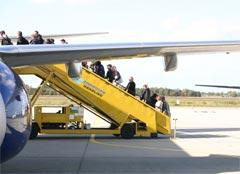 Boarding a Ryanair plane