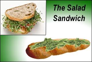 Lunch bagguette salad sandwich