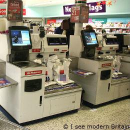 A self service checkout machine