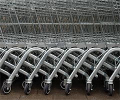 Some shopping trolleys