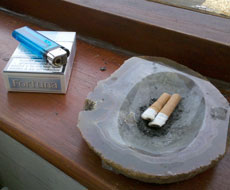 Smoking outside should be banned too