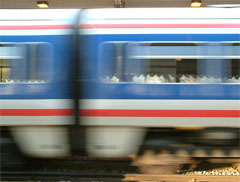 A train going fast