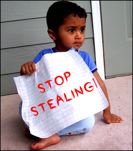 stop thief - living in a shared house with someone who steals