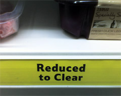 Tesco reduced to clear items