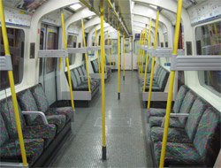 A seat on a train