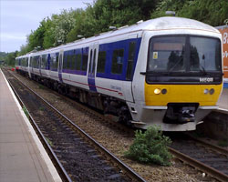 A train at a platform