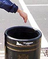 Just put litter in the rubbish bin!