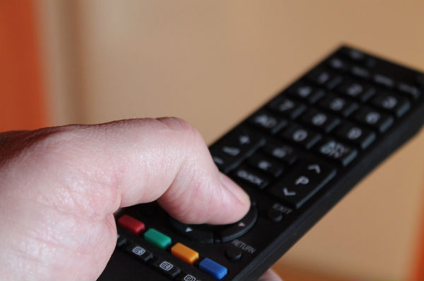 A tv remote, UK television advertising