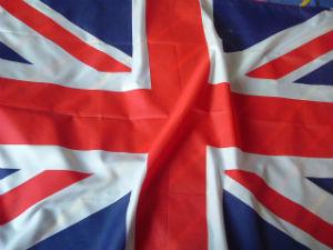 A Union Jack flag upside down