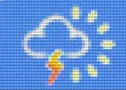 A weather map cloud graphic