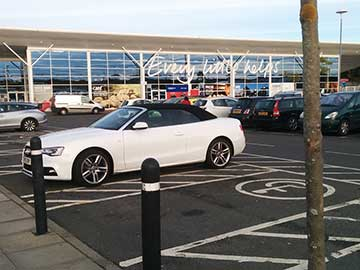 Able bodied drivers who park in disabled bays at the supermarket