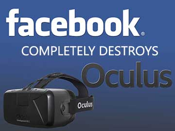 Oculus rift will require a Facebook account