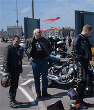 Some rather dodgy looking bikers at the Weymouth kite festival - wonder who they are!