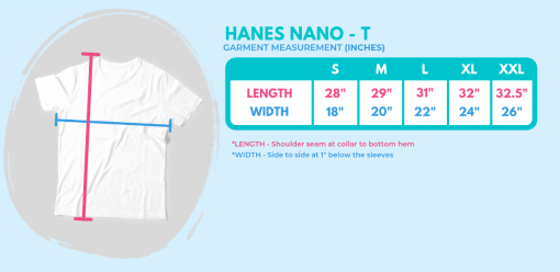 men's t-shirt size chart for 719 Ride t-shirts