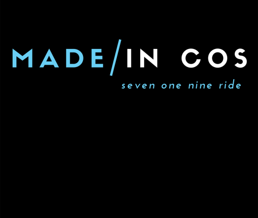 The design for the Made in COS Colorado Springs t-shirt with blue words