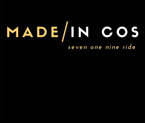 The design for the Made in COS Colorado Springs t-shirt with yellow words