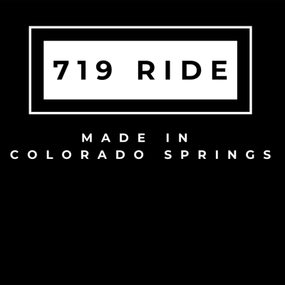 The design for the 719 Ride Made in Colorado Springs t-shirt