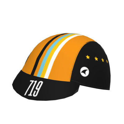 The front and forward facing view of the 719 Ride cycling cap