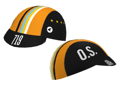 Front and side views of the 719 Ride cycling cap