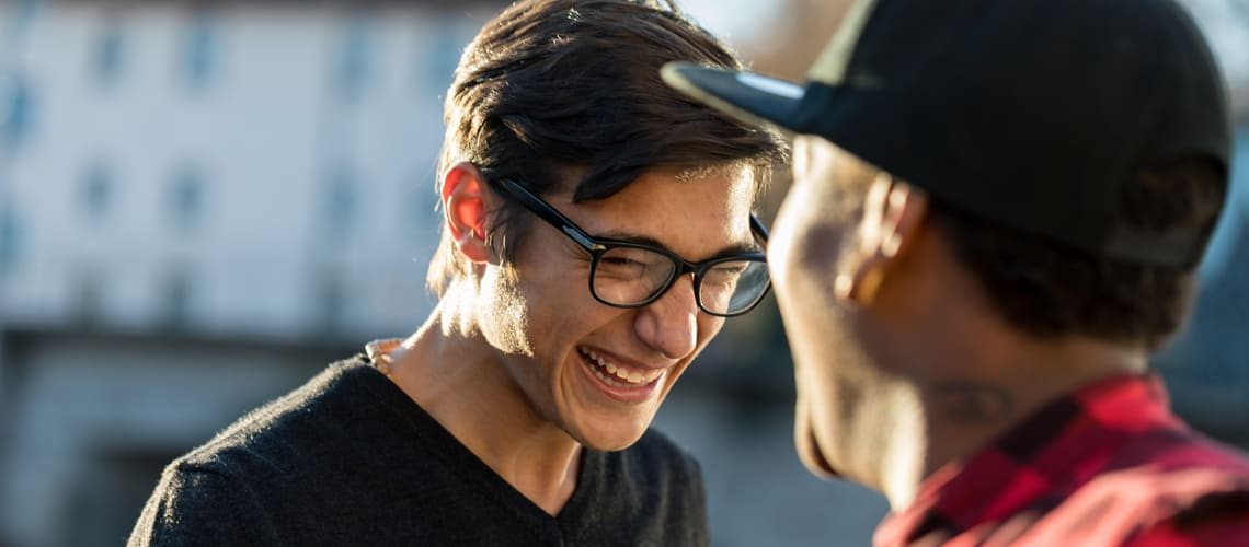 Young men laughing image used for The Animals blog page