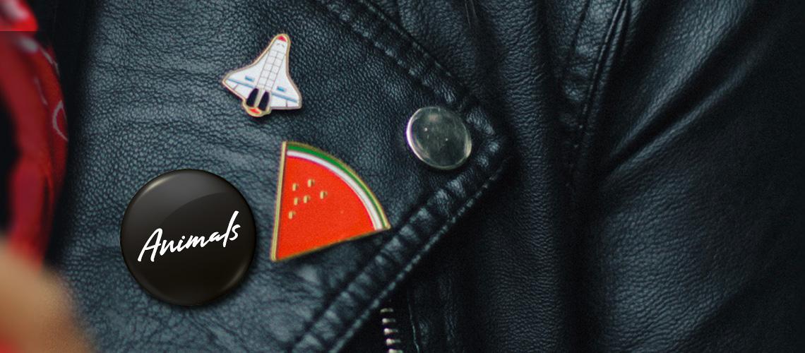 The Animals Badge On Leather Jacket Image