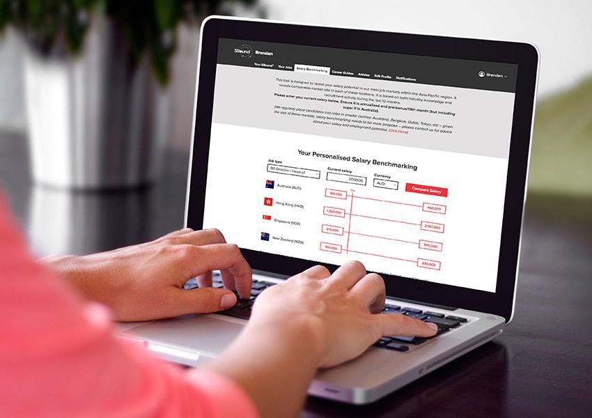 Seldon Rosser Digital Platform displayed on a laptop