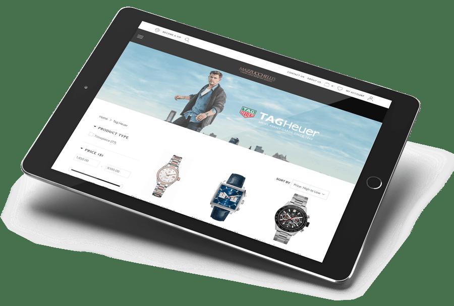 Mazzucchelli's Website featuring Chris Hemsworth Tag Heuer Watch Range at Mazzucchelli's