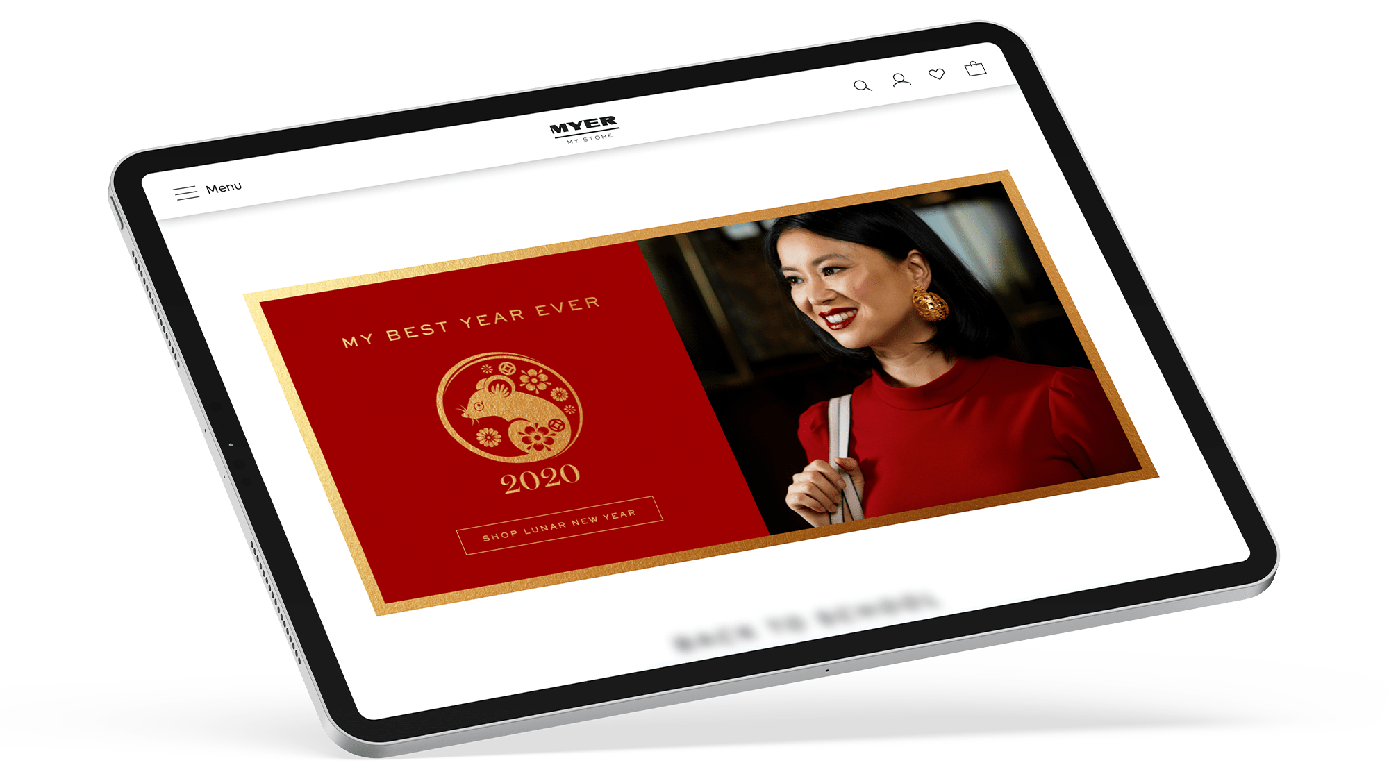 Myer Lunar New Year Advertising on iPad