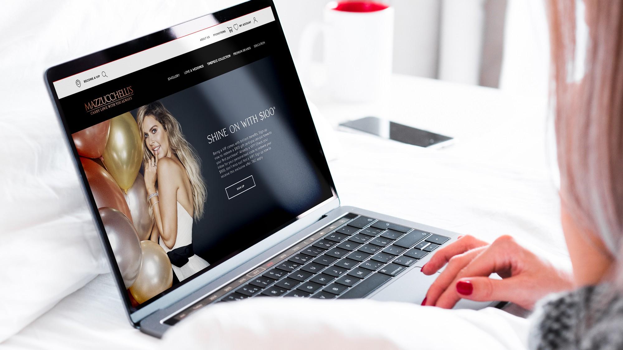 Mazzucchellis Website on Desktop