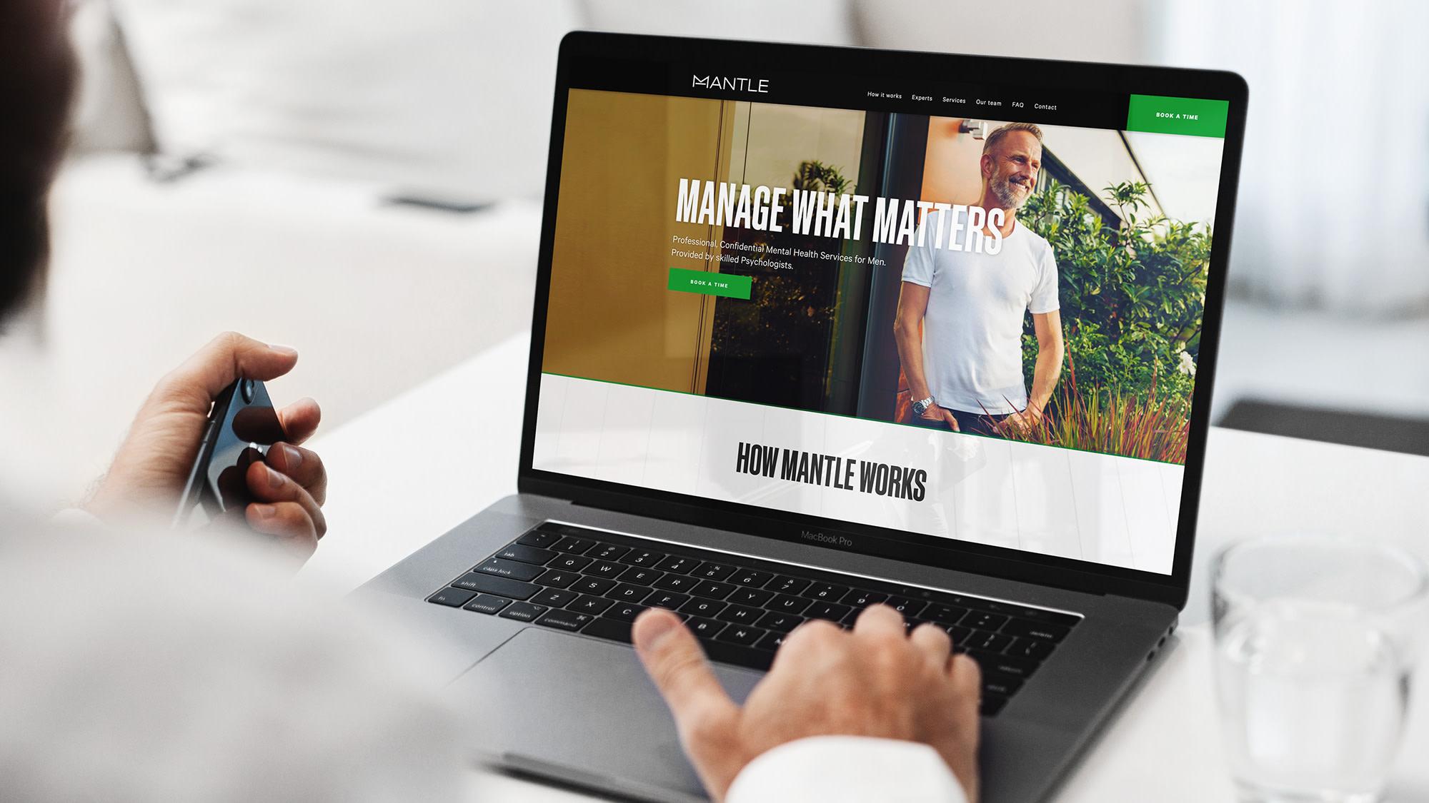 mantle health on laptop
