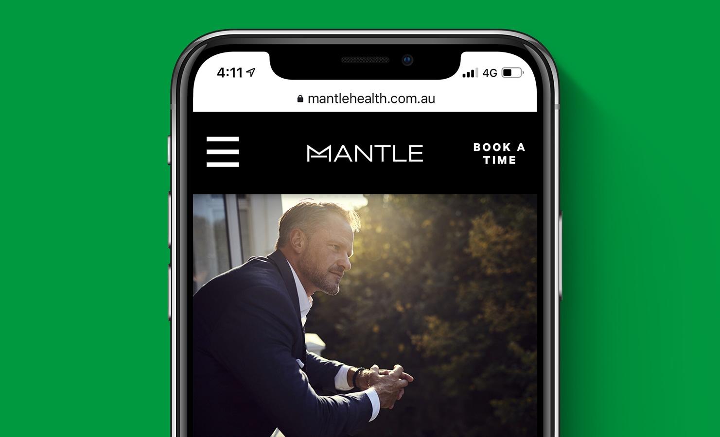 mantlehealth.com.au on a mobile device