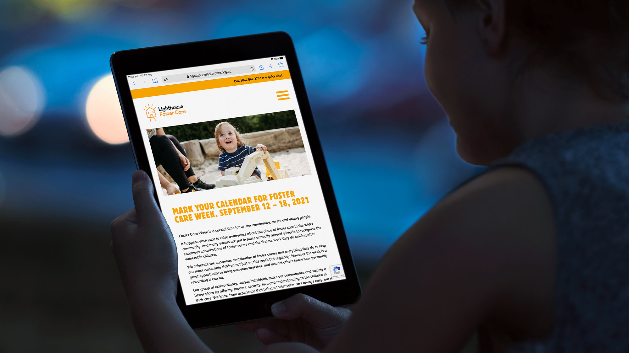 not for profit website Lighthouse Foster Care by The Animals