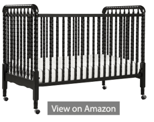 DaVnci Jenny Lind 3-in-1 Convertable Crib, Ebony