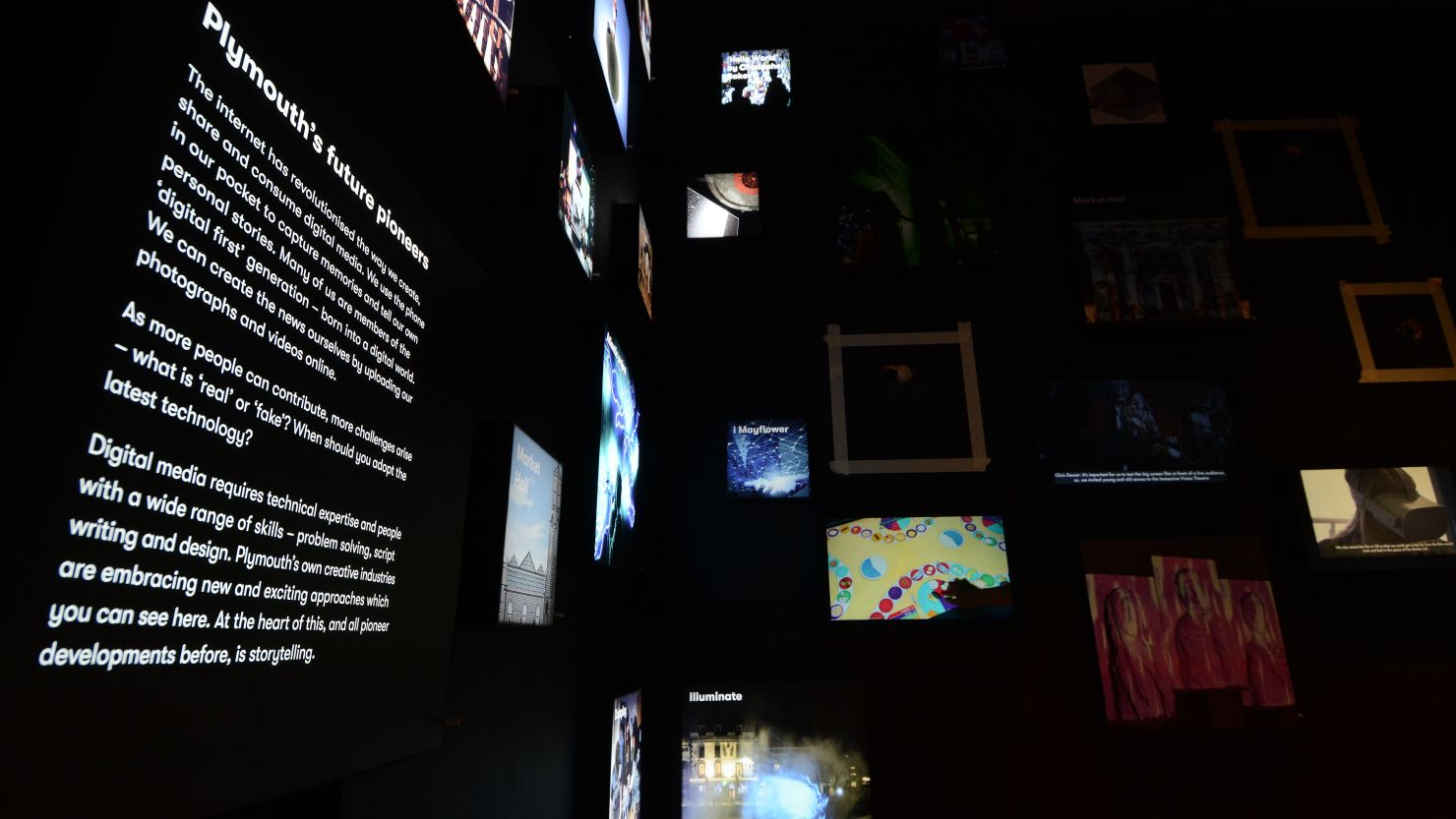 The 'Media Lab' gallery at The Box, Plymouth