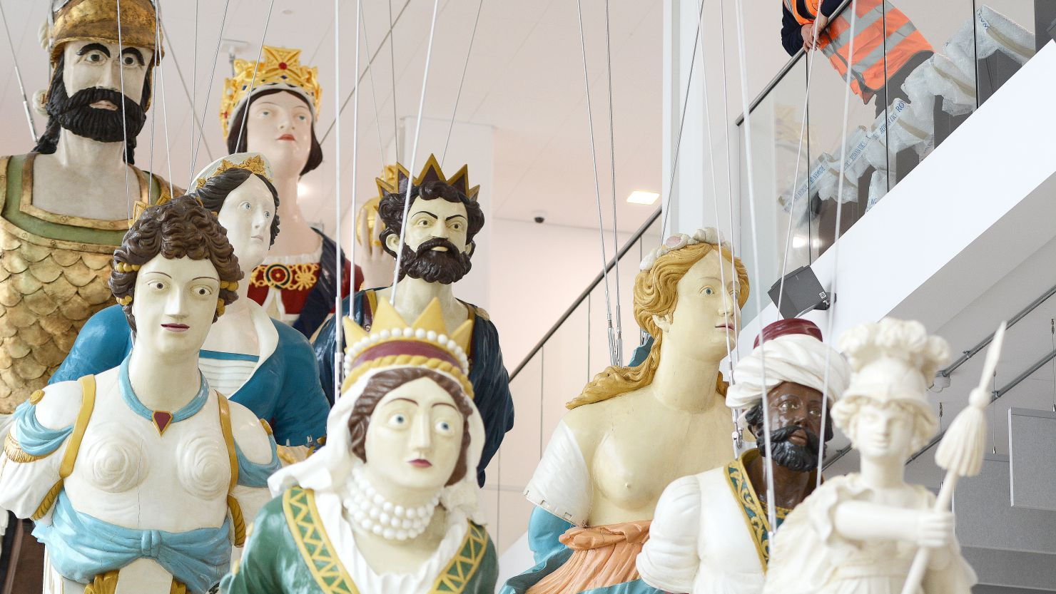 A group of Royal Naval ship's figureheads at The Box