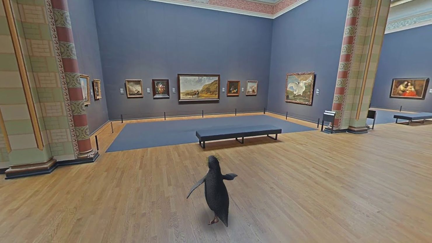 Virtual penguin tour of the Rijksmuseum