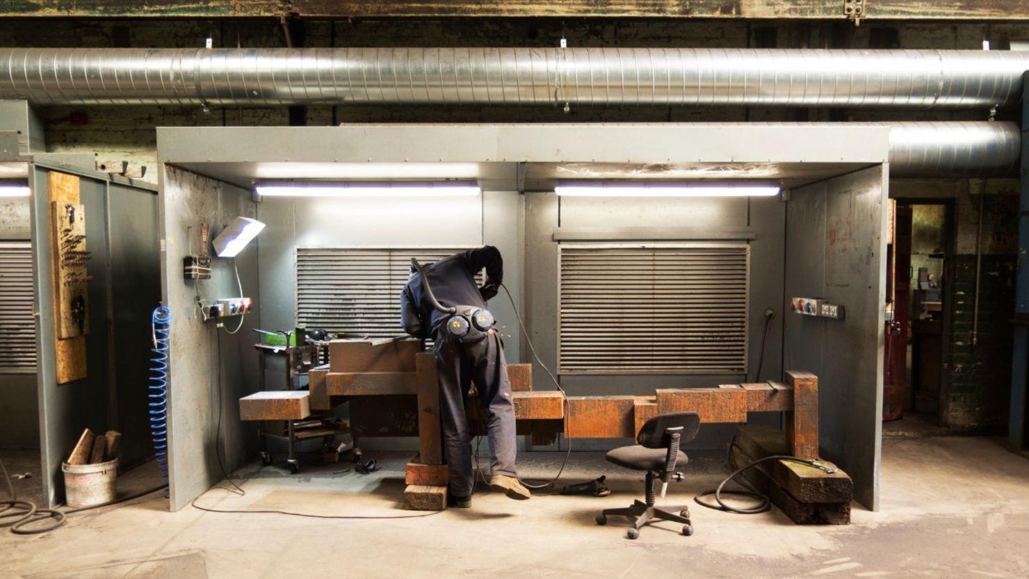 Man making mental sculpture