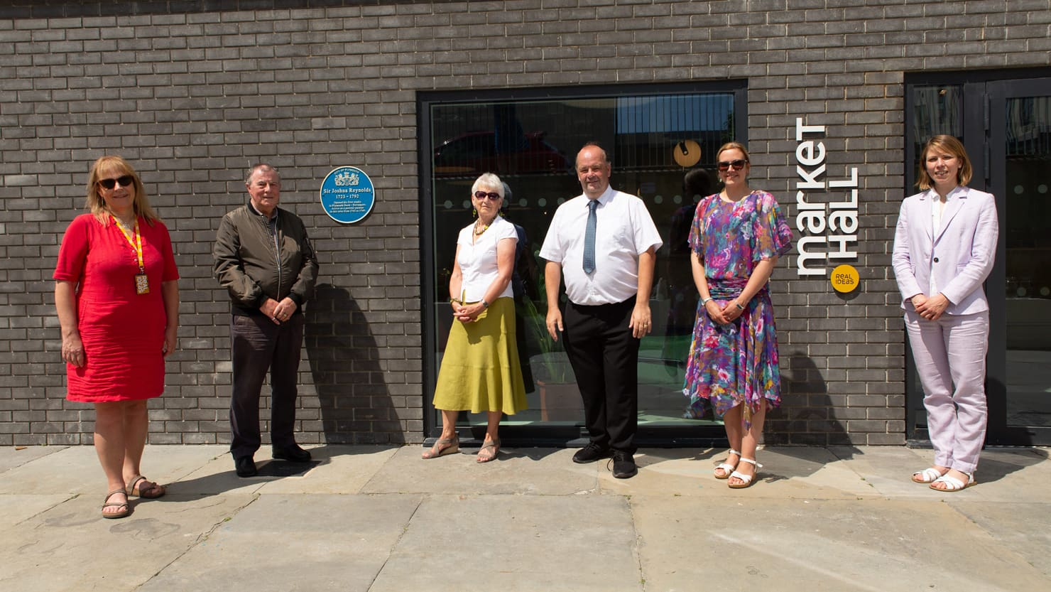 From L-R: Lindsey Hall, CEO, Real Ideas; Michael Moore, former Chair of the former Friends of PCMAG; Celia Bean, former Chair of the former Friends of PCMAG; Councillor Mark Deacon; Louisa Blight, Collections Manager at The Box and Emma Philip, Senior Cur