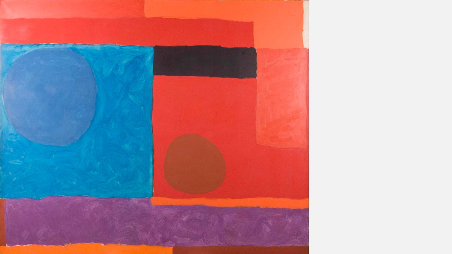 Rectilinear Reds and Blues, 1963 by Patrick Heron