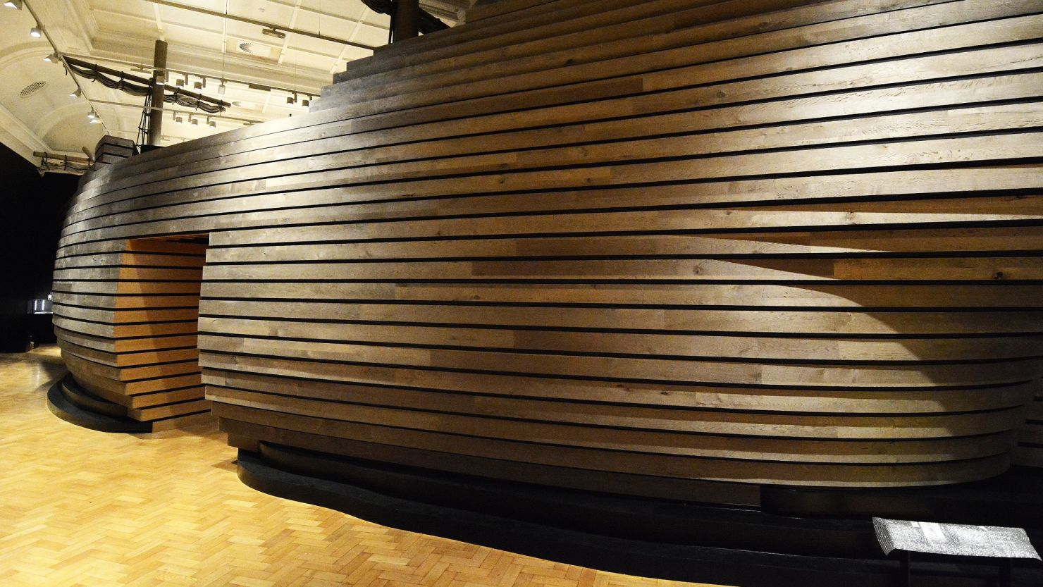 Image of the ship interactive in The Box's Mayflower 400 exhibition