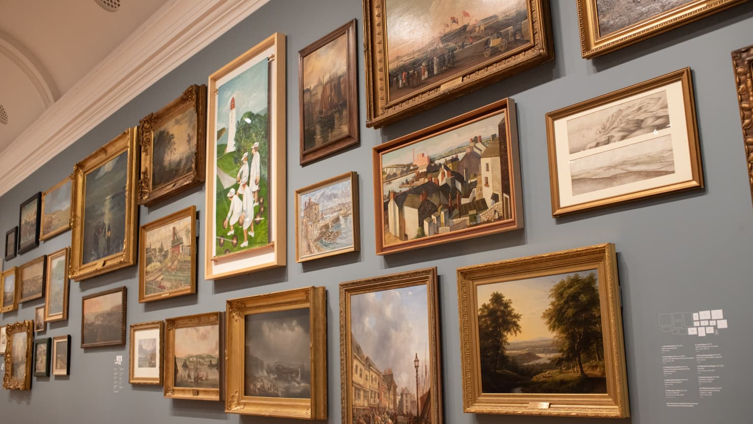 The 'Plymouth Panorama' in the Our Art gallery at The Box, Plymouth