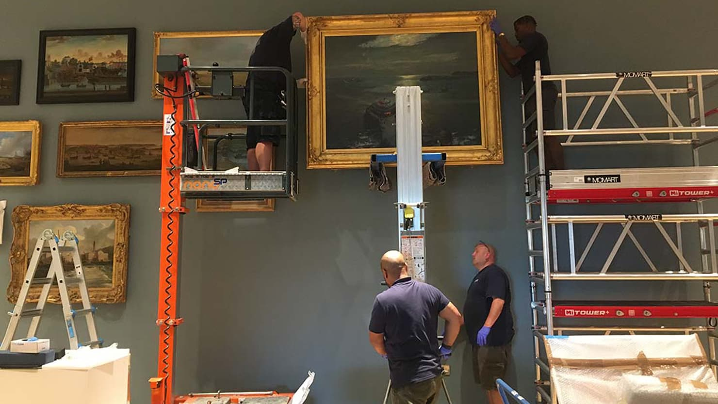 Installing the 'Plymouth Panorama' at The Box, Plymouth