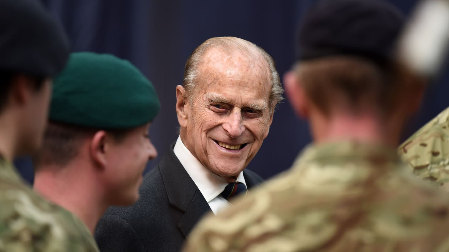 Prince Phillip meets Royal Marines at the Devonport Naval Base in November 2015 (Press Association)
