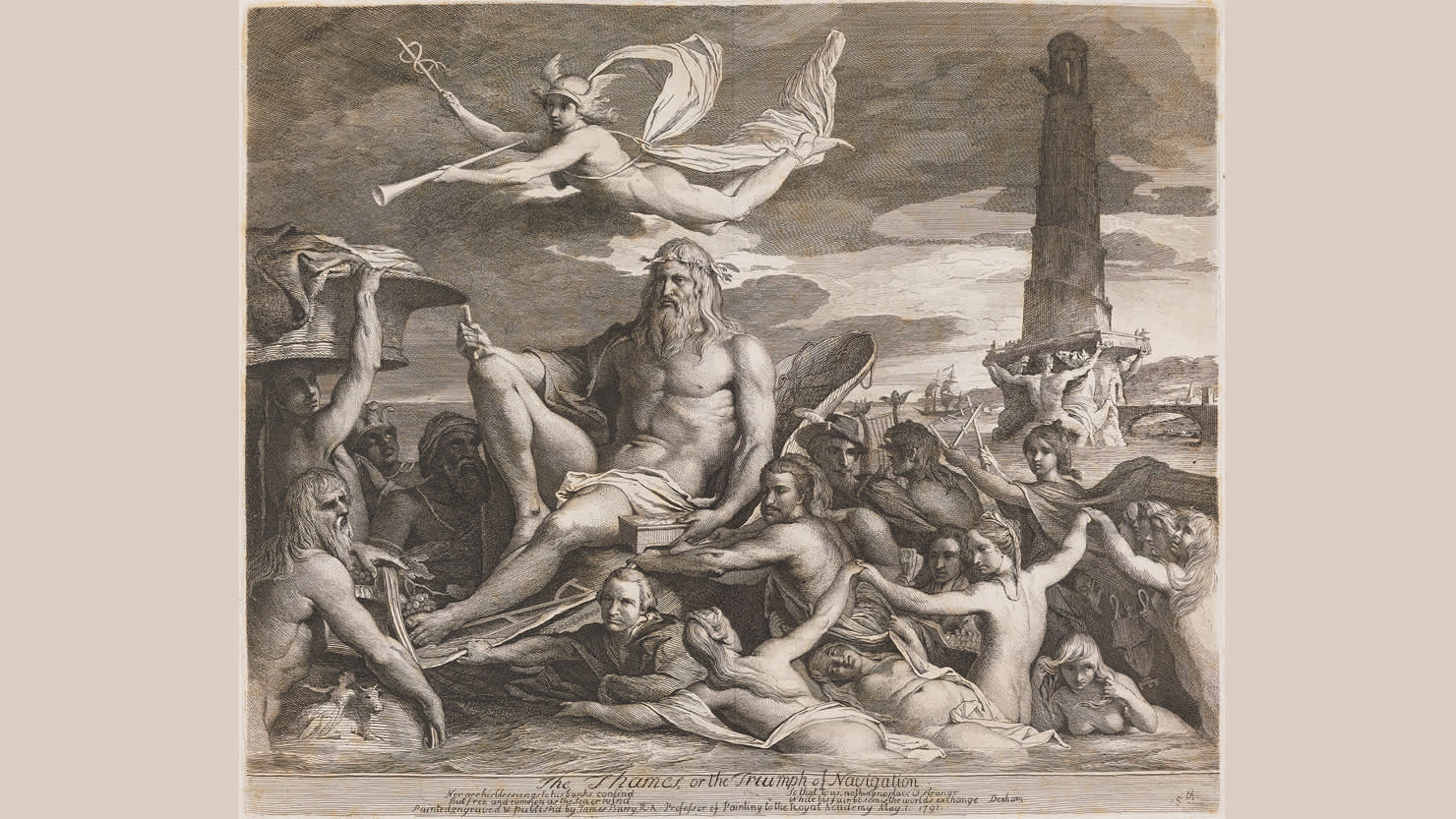 The Thames, or the Triumph of Navigation, 1791 by James Barry © National Portrait Gallery