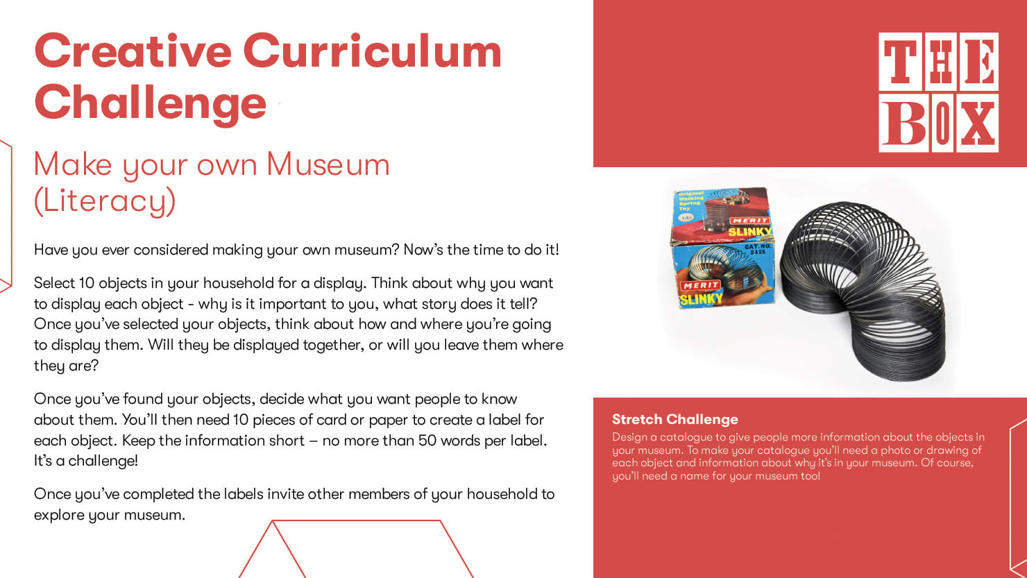 Graphic for The Box's literacy curriculum challenge