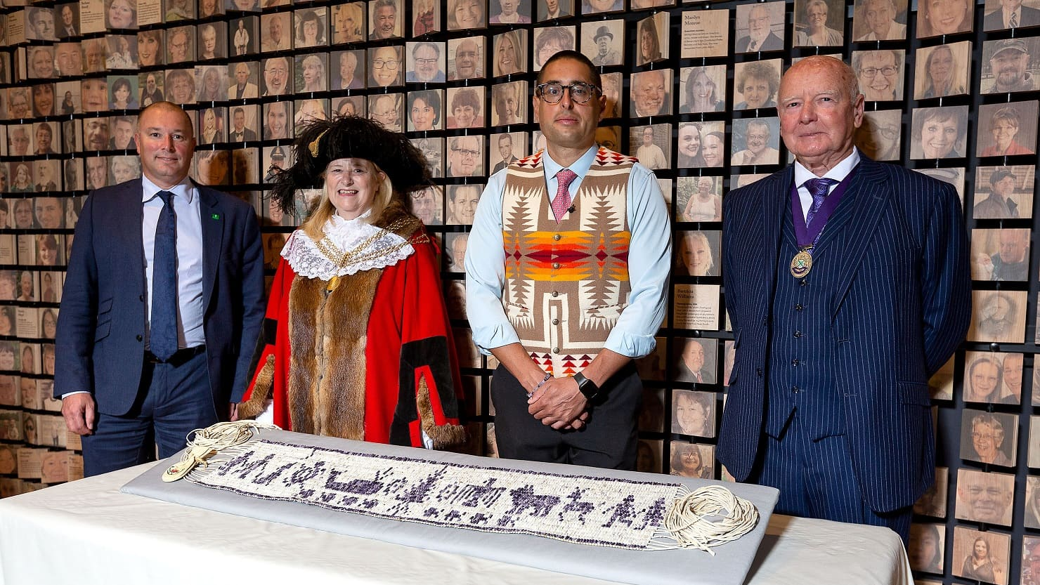 Steven Peters with the Lord Mayor and the Leader of Plymouth City Council